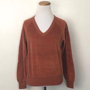 Vintage Velour Sweatshirt Small